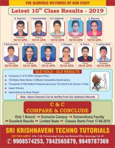 Sri Krishnaveni Home Tutors results