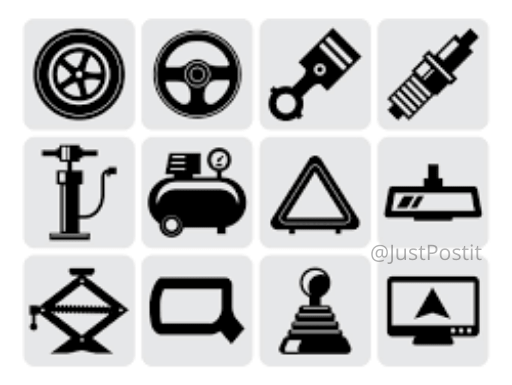 Automobile Spare Parts icon justpostit